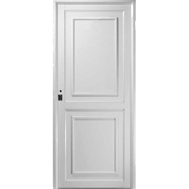 Puerta de aluminio tablero fen lico ciega toldos y for Puertas de aluminio medidas estandar