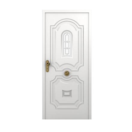 Puertas con Vidrio Central doble chapa inyectada 1